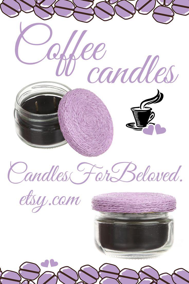 The coffee candles are beautiful coffee decor (coffee bar decor, coffee table de...