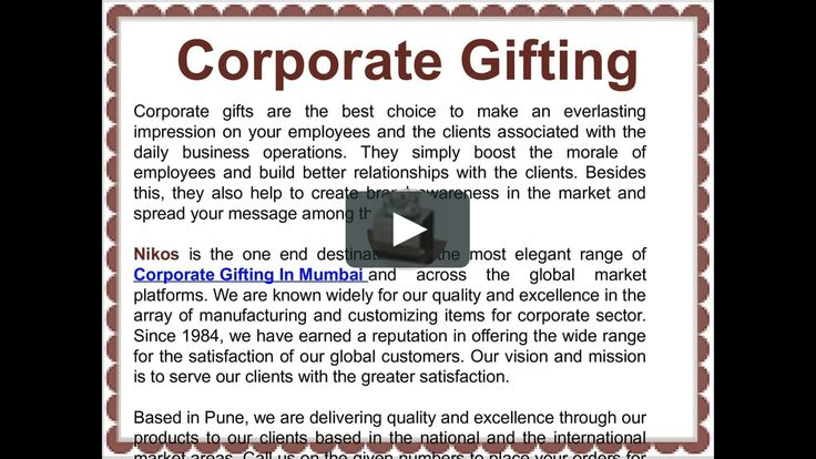 Watch out our latest Video on Corporate Gifting In Pune
