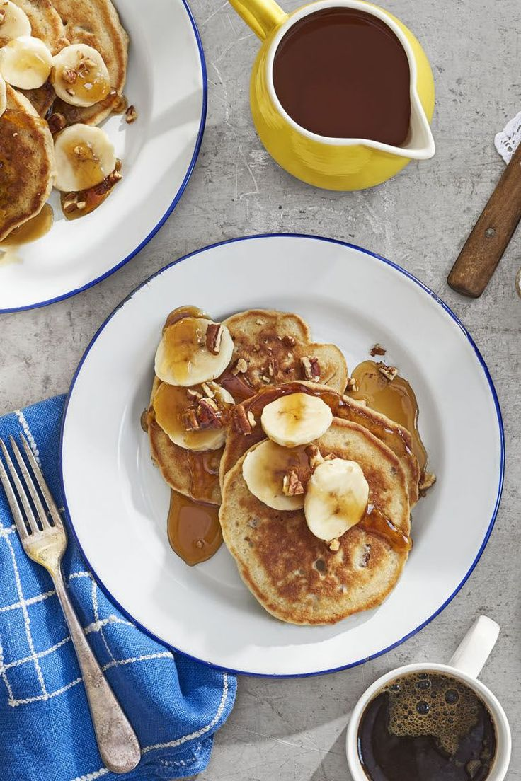 Take two favorites—banana bread and pancakes—and combine them for a tasty Mo...