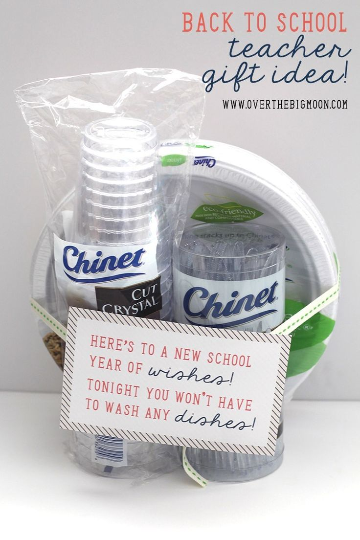 Back to School Teacher Gift Idea - disposable tableware is genius! Teachers are ...