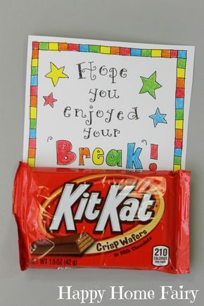 Every teacher needs a little chocolate to help them get back to school! :-) LOVE...