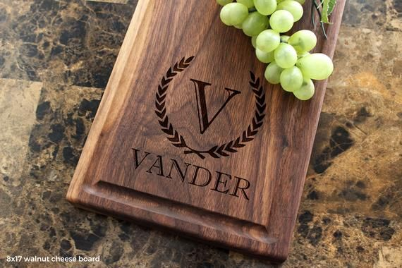 Personalized Cheese Board, Engraved Cheese Plate 8x17