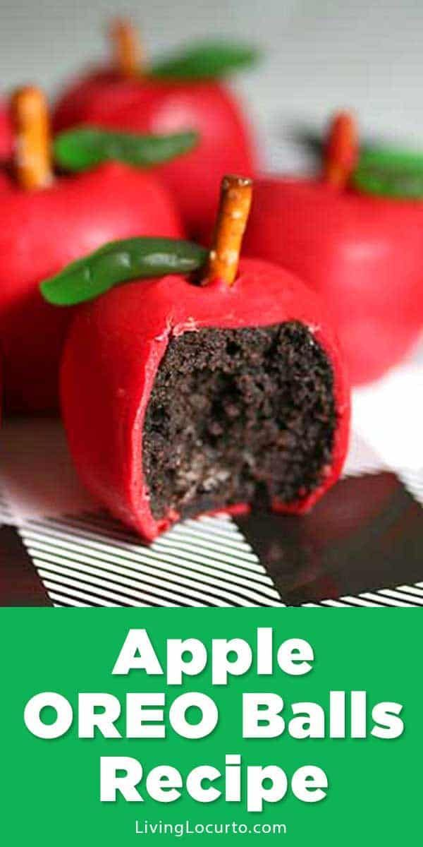 Easy Apple OREO Balls to kick off back to school season. Fun food craft recipe f...