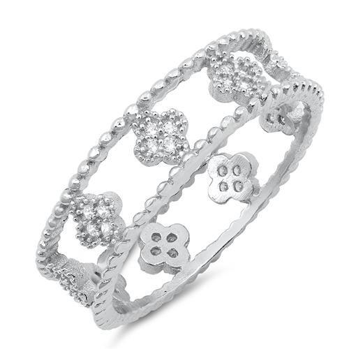 1.1TCW Russian Lab Diamond Eternity Ring