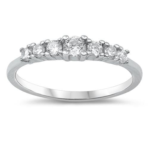 1.2TCW Russian Lab Diamond Wedding Band Half Eternity Ring