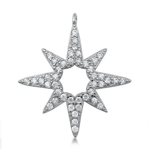 1.66TCW Pave Lab Diamond Twinkle Twinkle Little Star Necklace Pendant