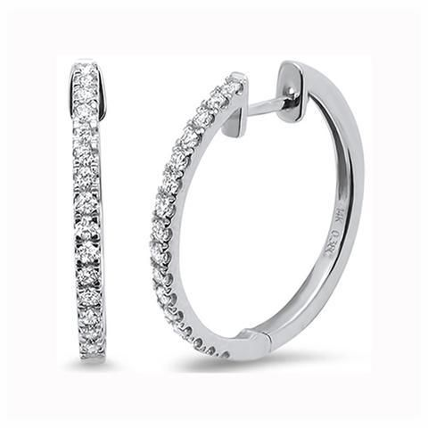 10K Gold .85TCW Ethically Mined Diamond Hoop Earrings
