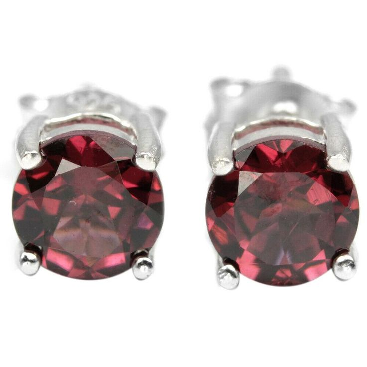14K White Gold 1CT Round Cut Earrings