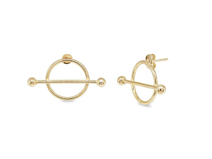 14K Yellow Gold Golden Constellation Stud Earrings