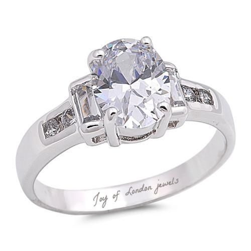 A Classic 1.1CT Oval Cut Russian Lab Diamond Engagement Ring