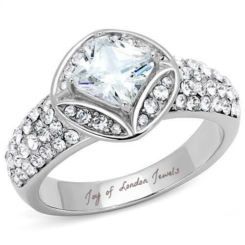 A Perfect 2CT Cushion Cut Halo Russian Lab Diamond Engagement Ring