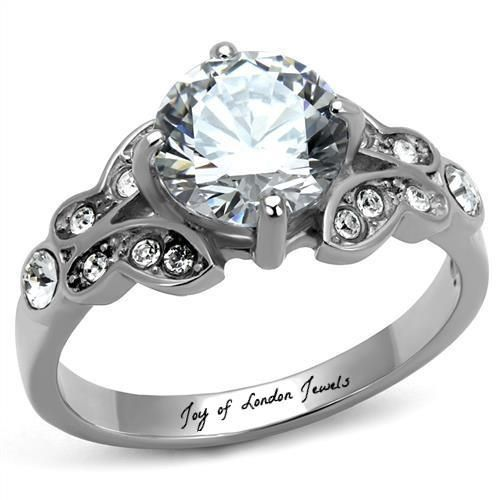 A Perfect 2CT Round Cut Russian Lab Diamond Promise Engagement Anniversary Weddi...