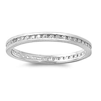 A Perfect Channel Set 2.1TCW Russian Lab Diamond Full Eternity Band Wedding Ring