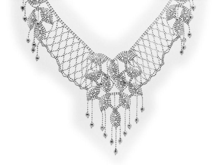 Princess Silk Collar Necklace