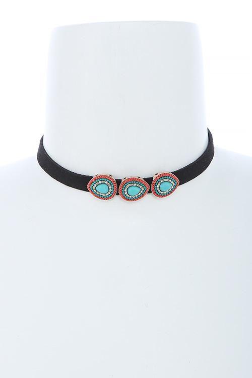 Sale Celebrity Style Turquoise Tear Drop Choker Necklace