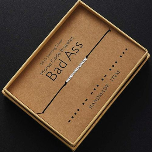 Bad Ass Morse Code Bracelet. Bad ass gifts for BFF. Awesome Christmas Gifts for ...