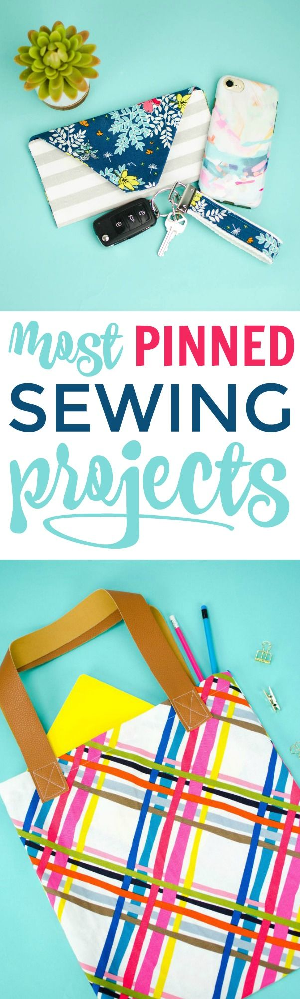 Check out our most Pinned Sewing Projects. From clothing to  accessories to home...