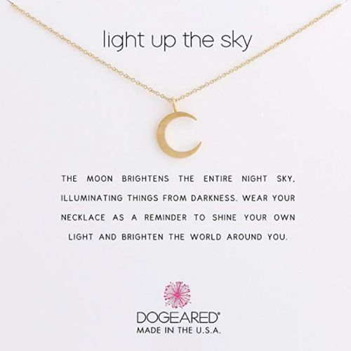 Crescent Moon Inspirational Necklace by Dogeared (Meaningful Christmas Gifts For...