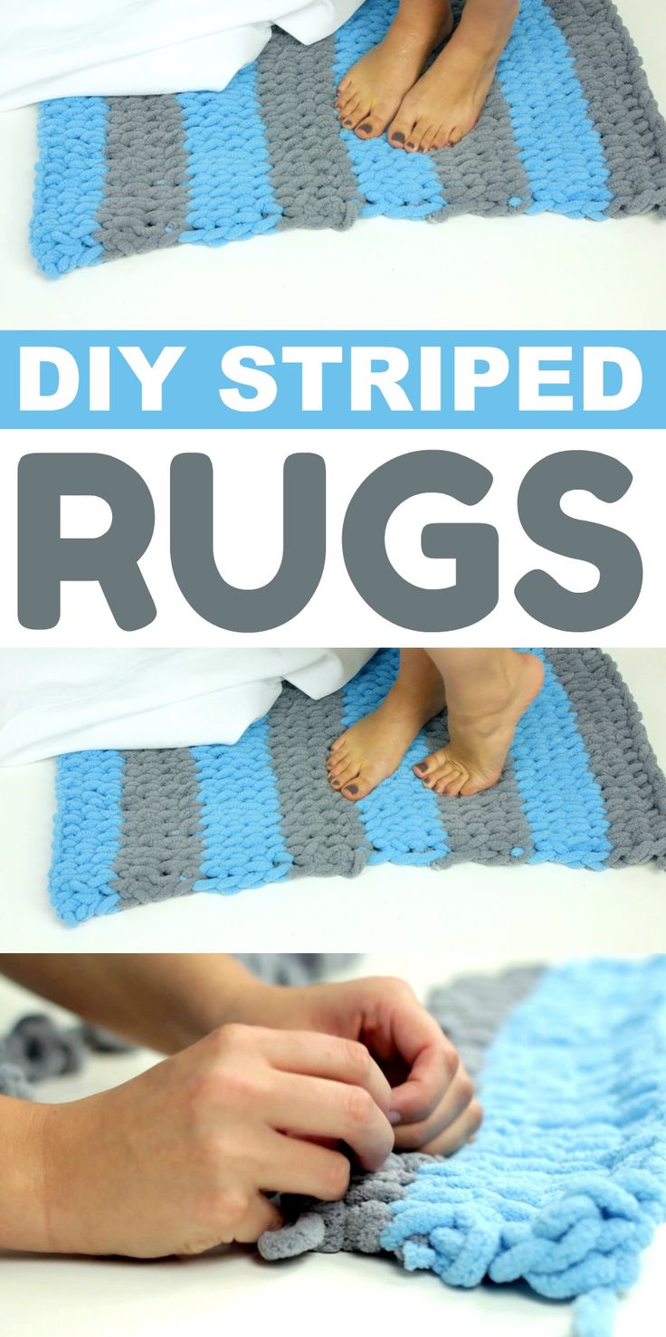 Who wants to make a rug with their hands?! I know it sounds hard, but I promise ...