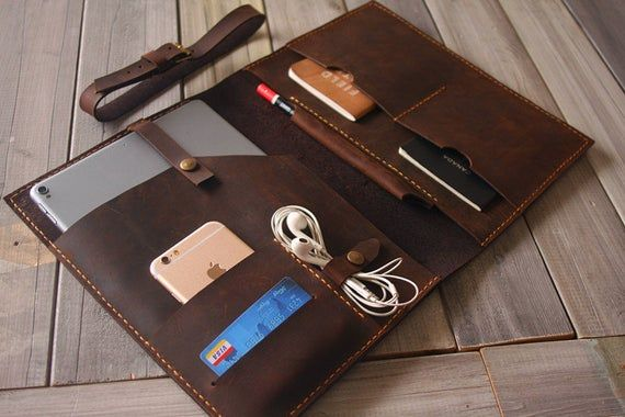 Leather iPad Air Covers 2019, Apple Pencil Case, 10.5 /  9.7