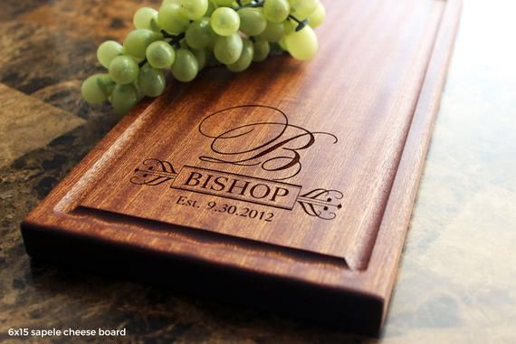 Personalized Cheese Board, Engraved Cheese Plate 6x15