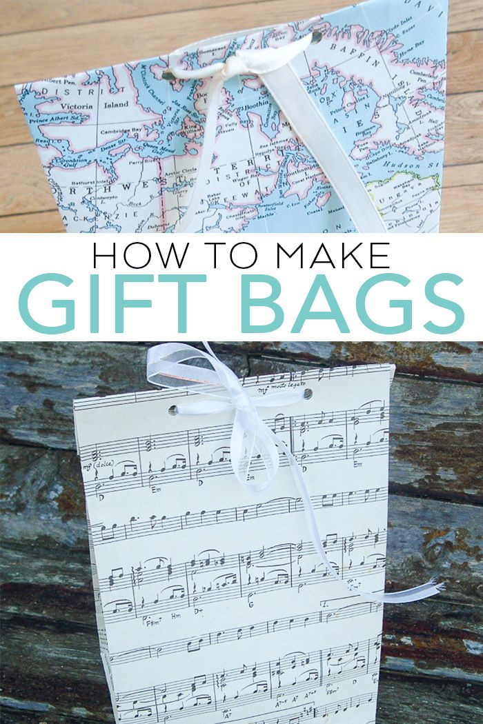Learn how to make gift bags with this easy tutorial! A DIY paper bag is an easy ...