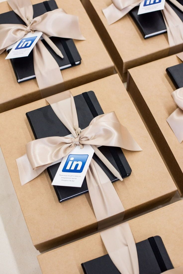 CORPORATE EVENT GIFTS// Polished  company branded gifts welcome professionals to...