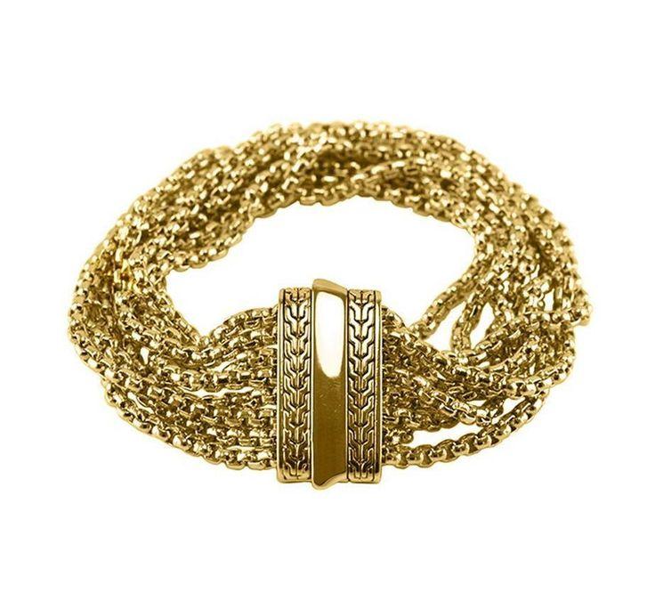 14K Yellow Gold or Silver Multi-Strand Bracelet