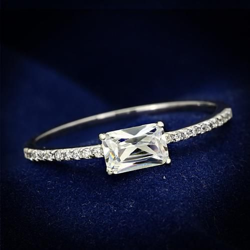 A Perfect .50CT Emerald Cut Russian Lab Diamond Engagement Ring