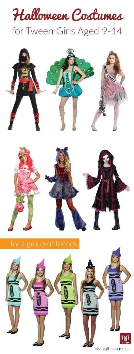 Cute Halloween Costumes For Tweens. Suitable for middle schoolers age 9-14. Also...