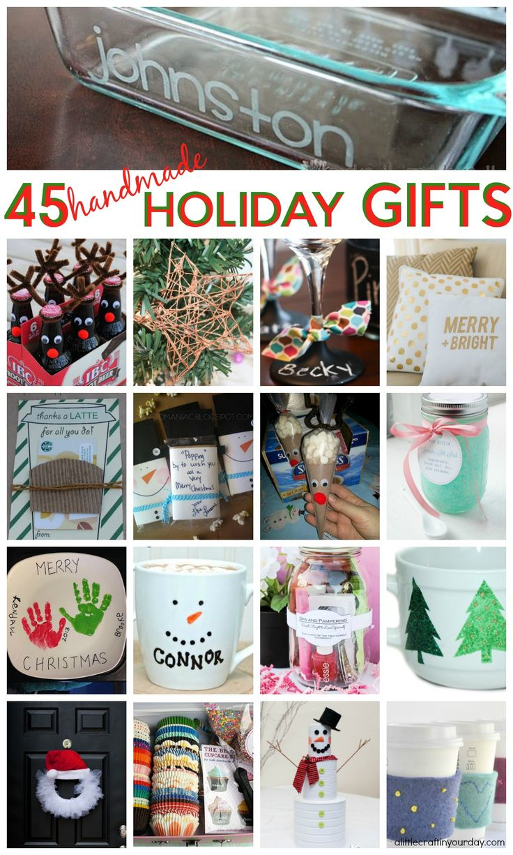 Everyone loves personalized, handmade gifts just for them, so with this list of ...