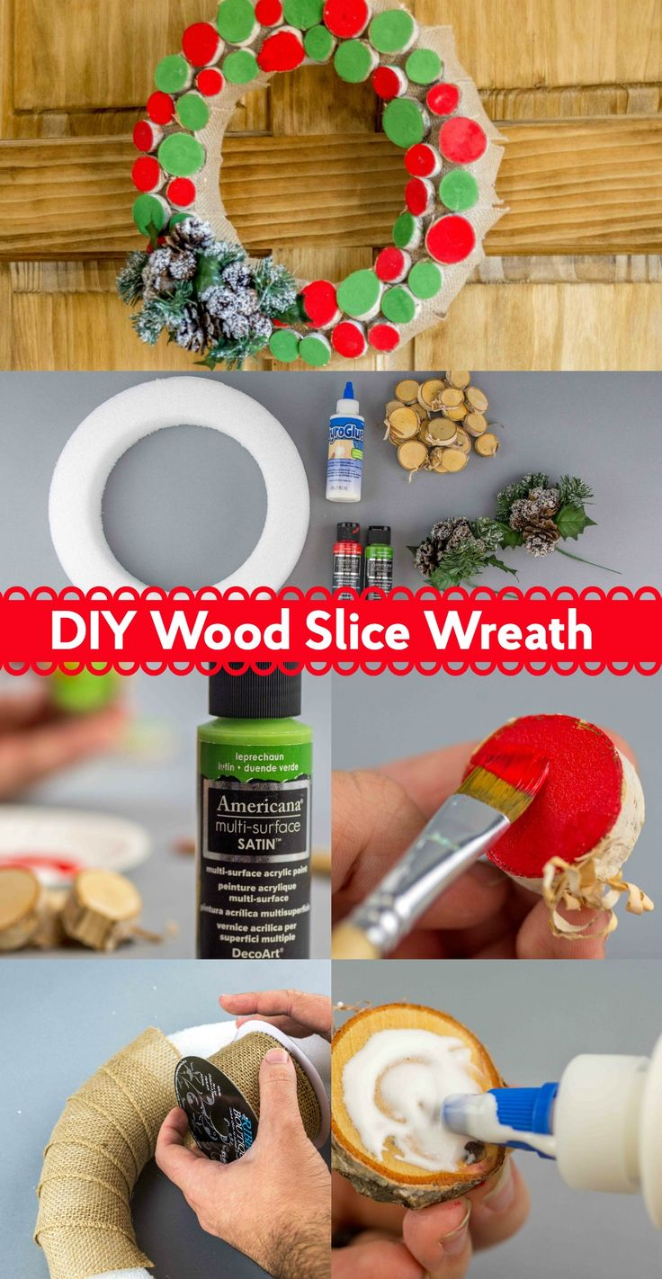 Let me share with you how to make an awesome DIY wood slice wreath in less than ...