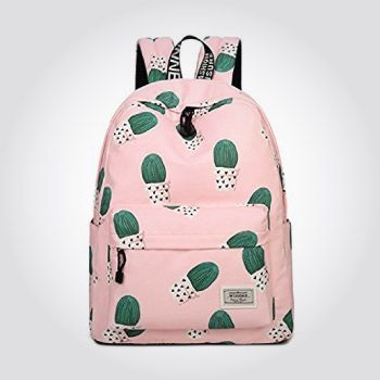 Pink Cactus Backpack (Cute Christmas Gifts For Teen Girls)