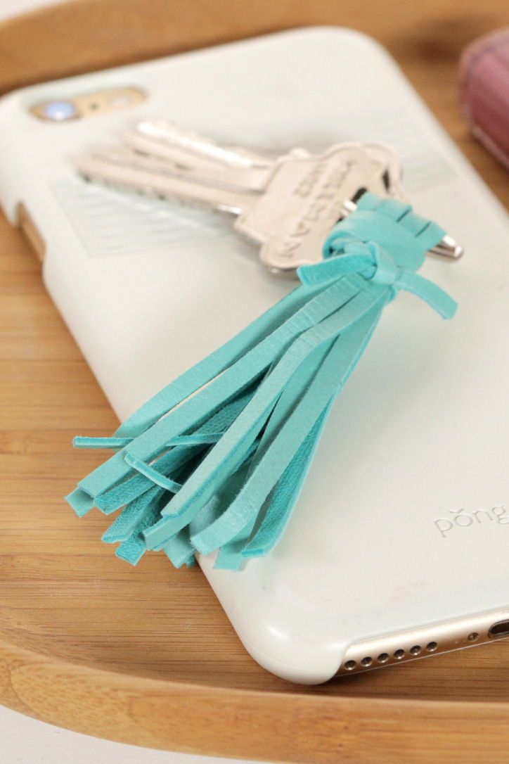 A tassel keychain is the perfect handmade stocking stuffer. Pick up some colorfu...