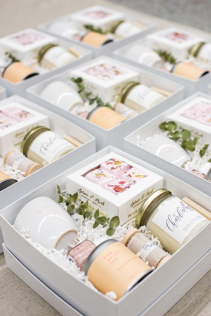 Spa-Themed Curated Client Gift Boxes for Branding & Web Design Business Ribbon &...