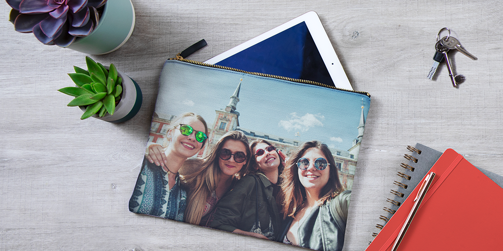 toiletry bag with photos