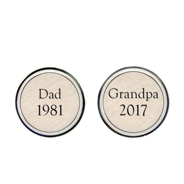 Dad to grandpa cufflinks