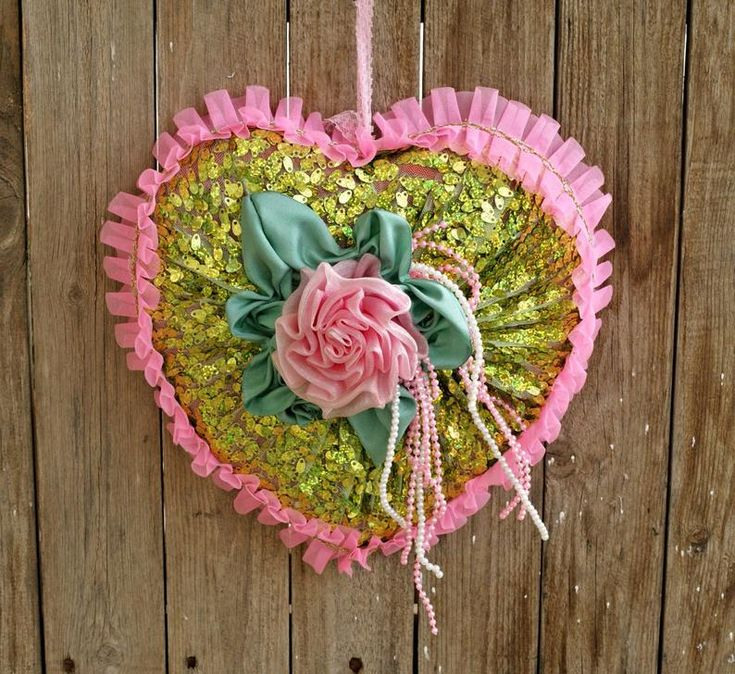 Mother's Day or Valentine's Day Heart Shaped Wall Hanging