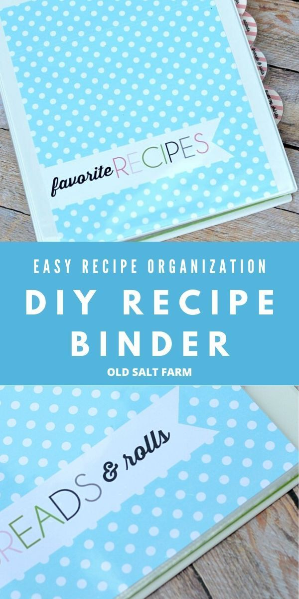 DIY Recipe Binder   FREE PRINTABLES   oldsaltfarm.com