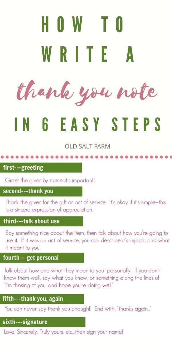How to Write a Thank You Note in 6 Easy Steps   Old Salt Farm