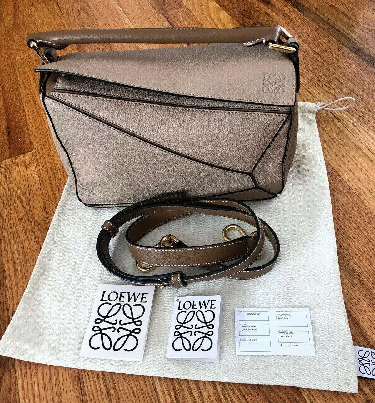 NWT Loewe Small Puzzle Satchel Crossbody Shoulder Bag Purse Sand Mink Tan Brown 8432902463249   eBay