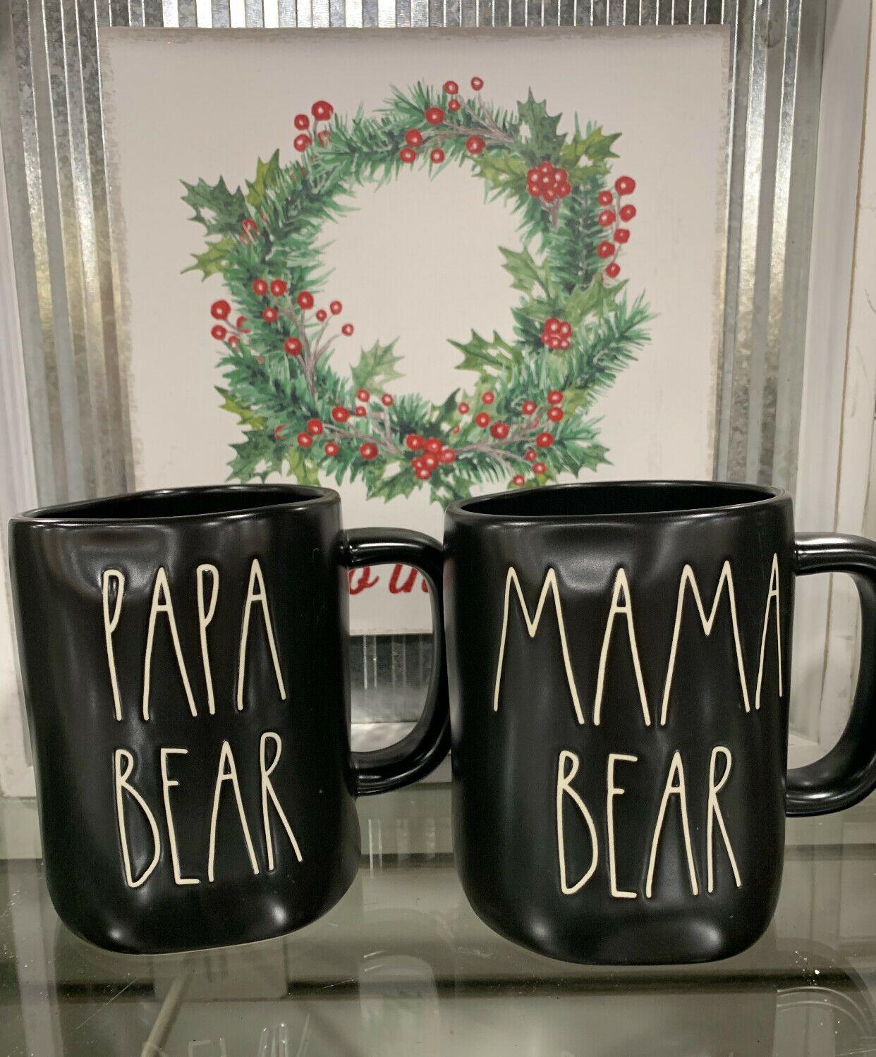 Rae Dunn MAMA BEAR and PAPA BEAR MUG SET  | eBay