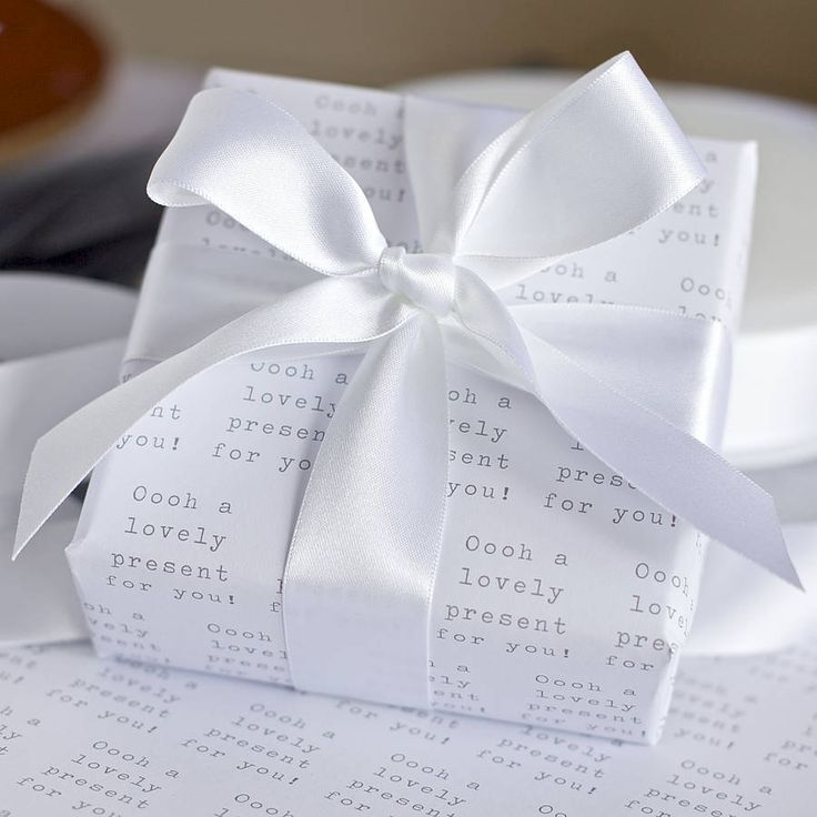 Black and White 'Lovely Present' Wrapping Paper