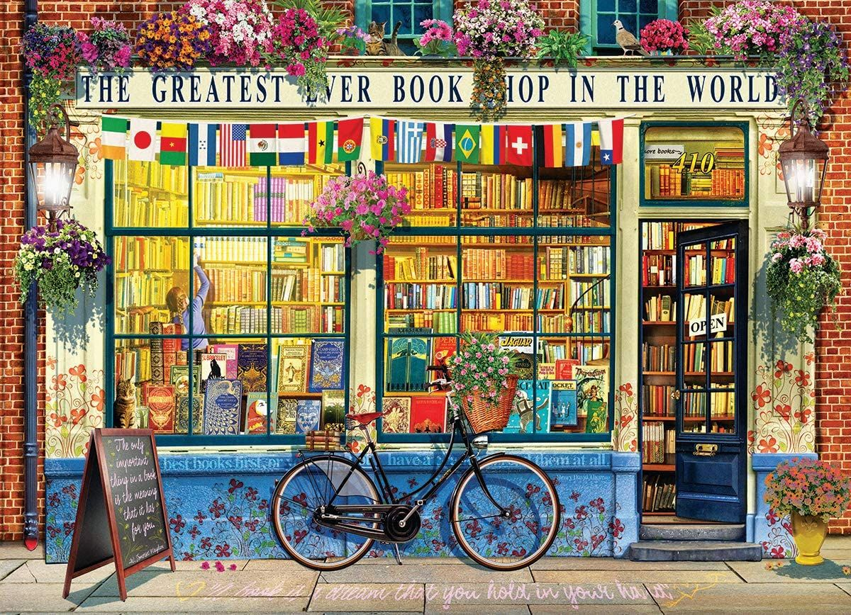 The Greatest Bookstore in The World by EuroGraphics Jigsaw Puzzle from Amazon.