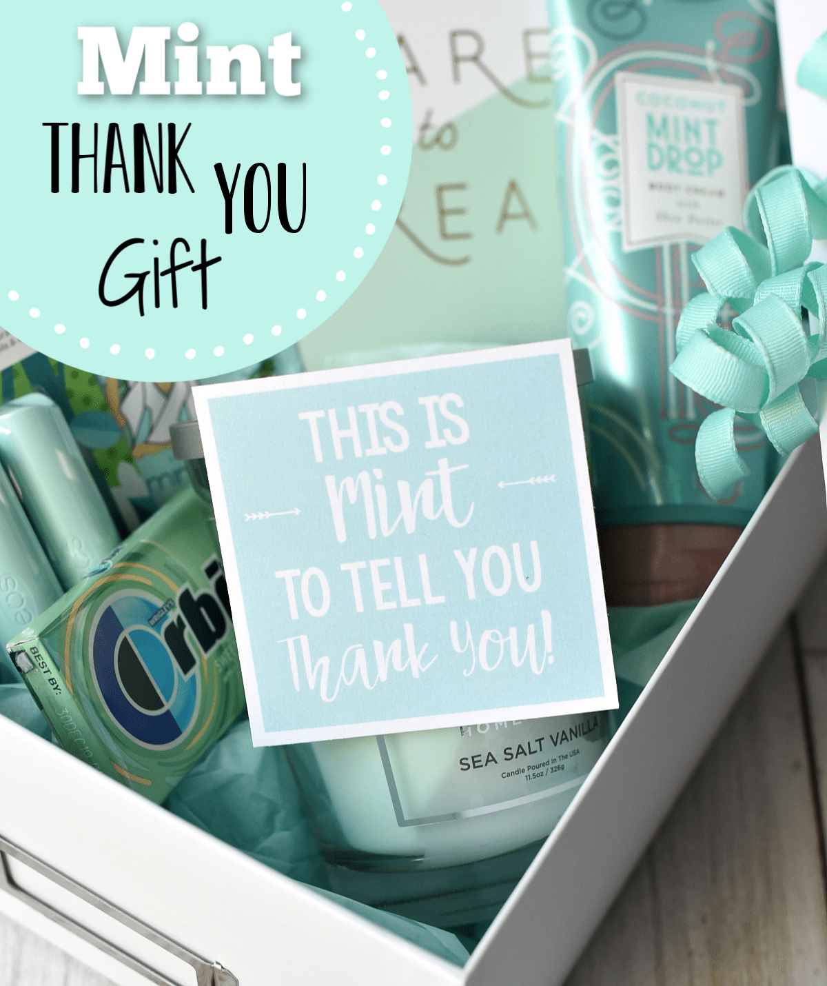 Mint Themed Thank You Present