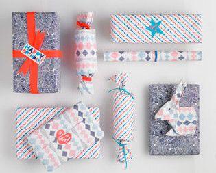 Cadeaupapier en stickers van PSikhouvanjou #gifts 101woonideeën van: www.101woo...