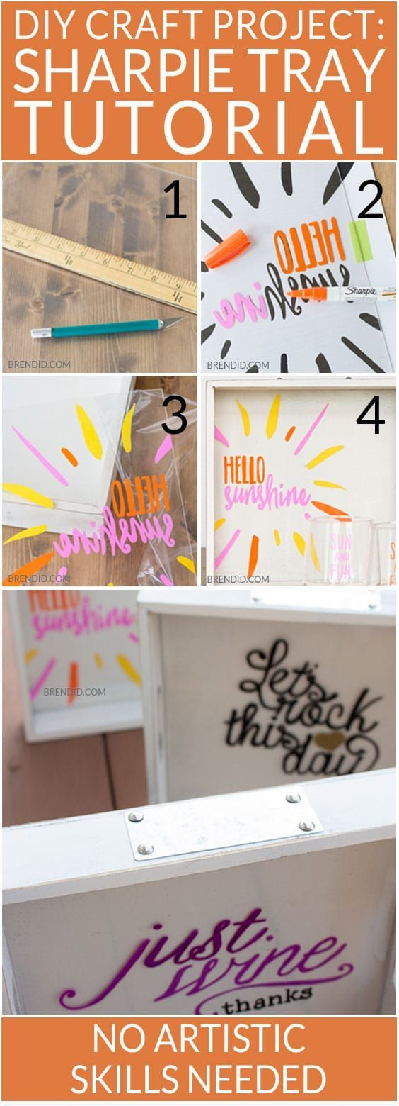 DIY Sharpie Tray Tutorial with 4 Easy Trace Patterns