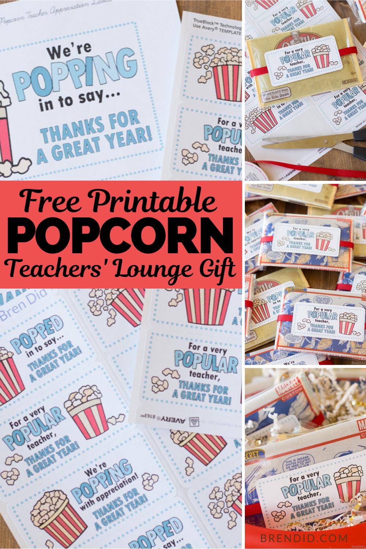 Easy Popcorn Teacher Gift Idea