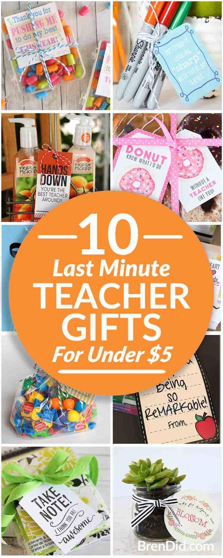 Last Minute Teacher Gifts - Bren Did
