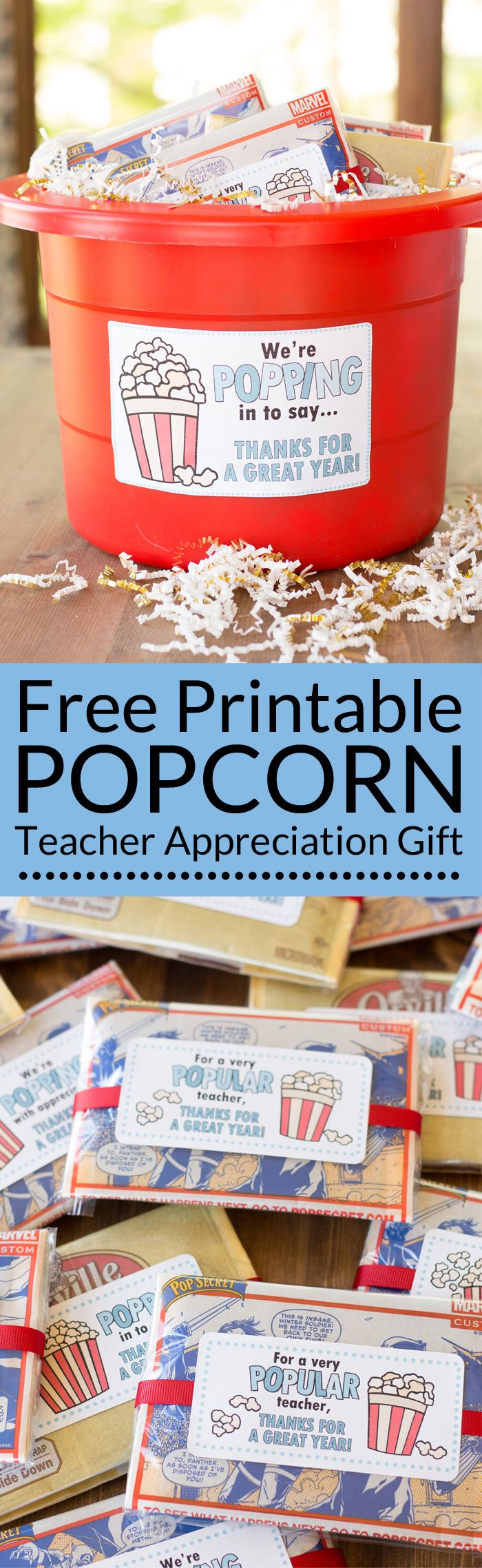 Popcorn Teacher Appreciation Gifts
